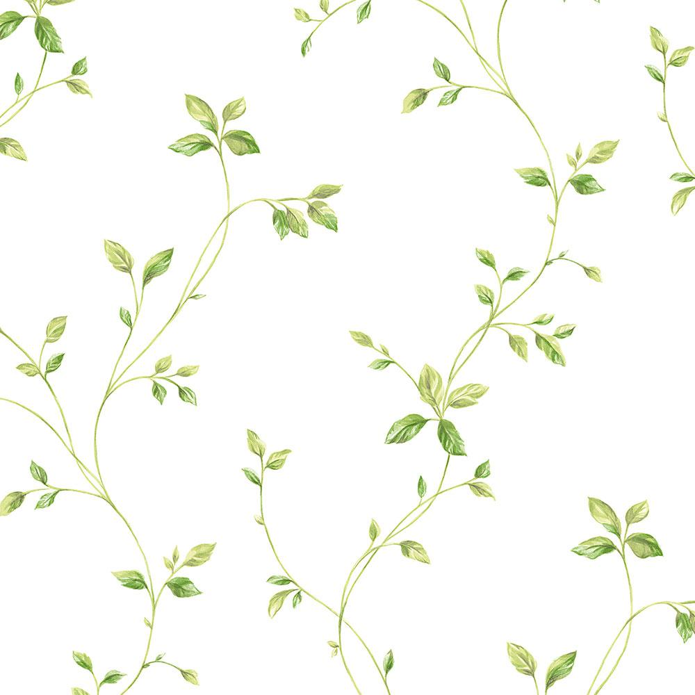 Norwall Watercolor Leaves Wallpaper-KC28550 - The Home Depot