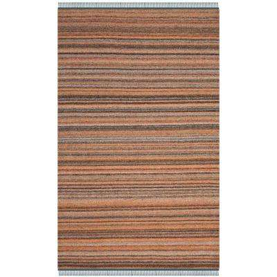 Kilim Light Pink/Gray 5 ft. x 8 ft. Area Rug