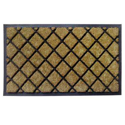 Dirt Busters Lattice 18 in. x 30 in. Rubber Coir Door Mat