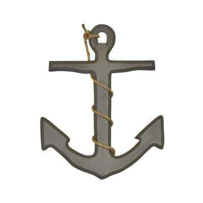 Ahoy Anchor Grey Wood Wall Decor