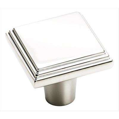 Manor 1-1/16 in (27 mm) Length Polished Chrome Cabinet Knob