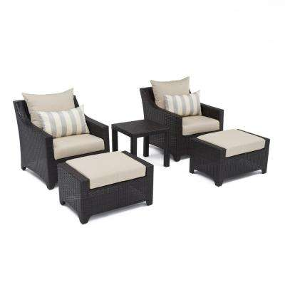 Deco 5-Piece Patio Chat Set with Slate Grey Cushions