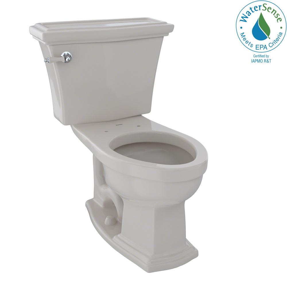 Eco Clayton 2-Piece 1.28 GPF Single Flush Elongated Toilet in Sedona