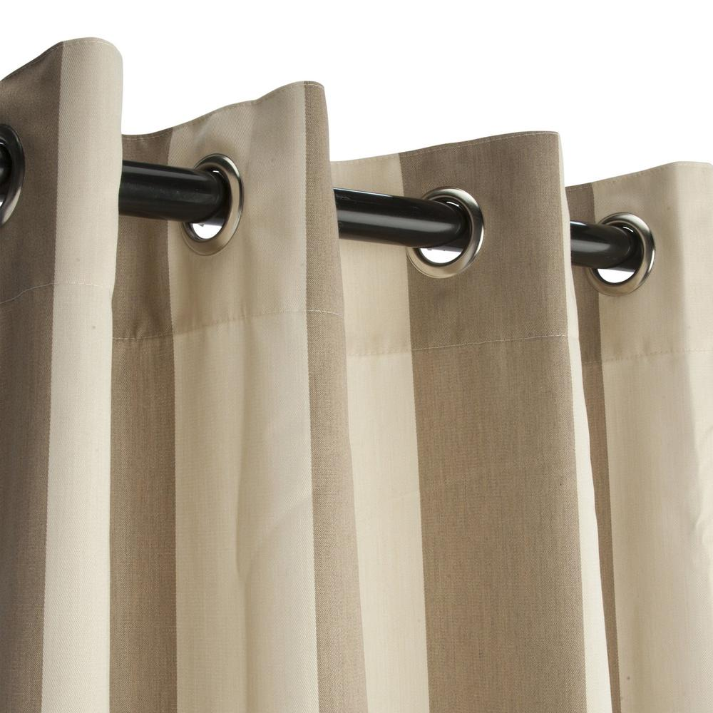 50 in. x 96 in. Outdoor Single Curtain with Nickel Grommets