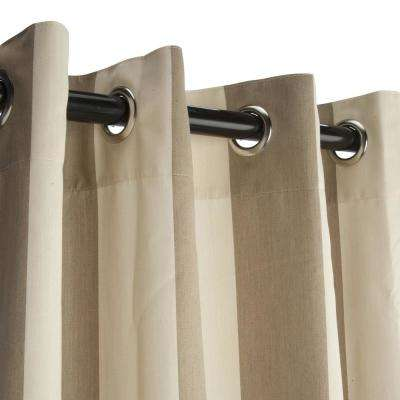 50 in. x 96 in. Outdoor Single Curtain with Nickel Grommets in Sand