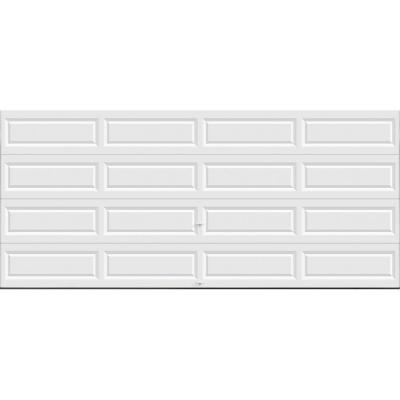 Clopay Classic Collection 15 Ft 6 In X 7 Ft Non Insulated Solid White Garage Door Hdb Sw Sol The Home Depot