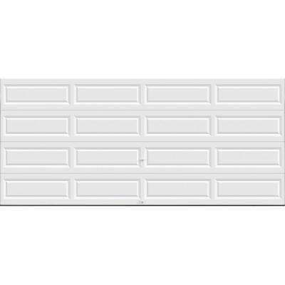 Classic Collection 16 ft. x 7 ft. Non-Insulated Solid White Garage Door