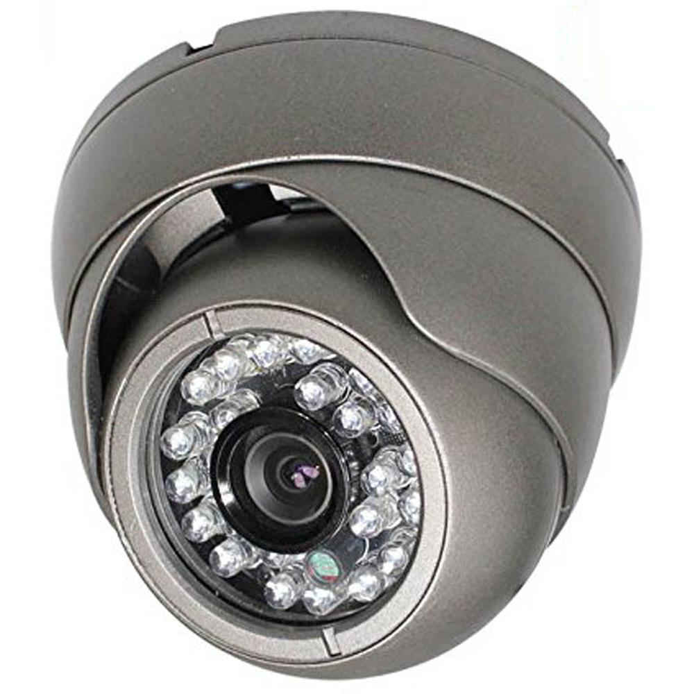 Wired Indoor/Outdoor Vandal Proof IR Dome Camera with 1000TVL Resolution 3.6