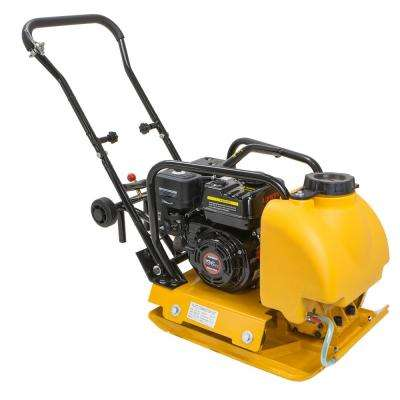 6.5 HP Gas Plate Compactor Vibratory Asphalt/Soil Tamper Rammer with Built-in Water Tank
