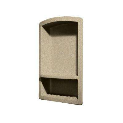 Recessed Wall-Mount Solid Surface Soap Dish and Accessory Shelf in Prairie