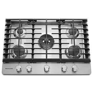 stainless steel kitchenaid gas cooktops kcgs550ess 64_300 electrolux 30 in deep recessed gas cooktop in stainless steel  at virtualis.co