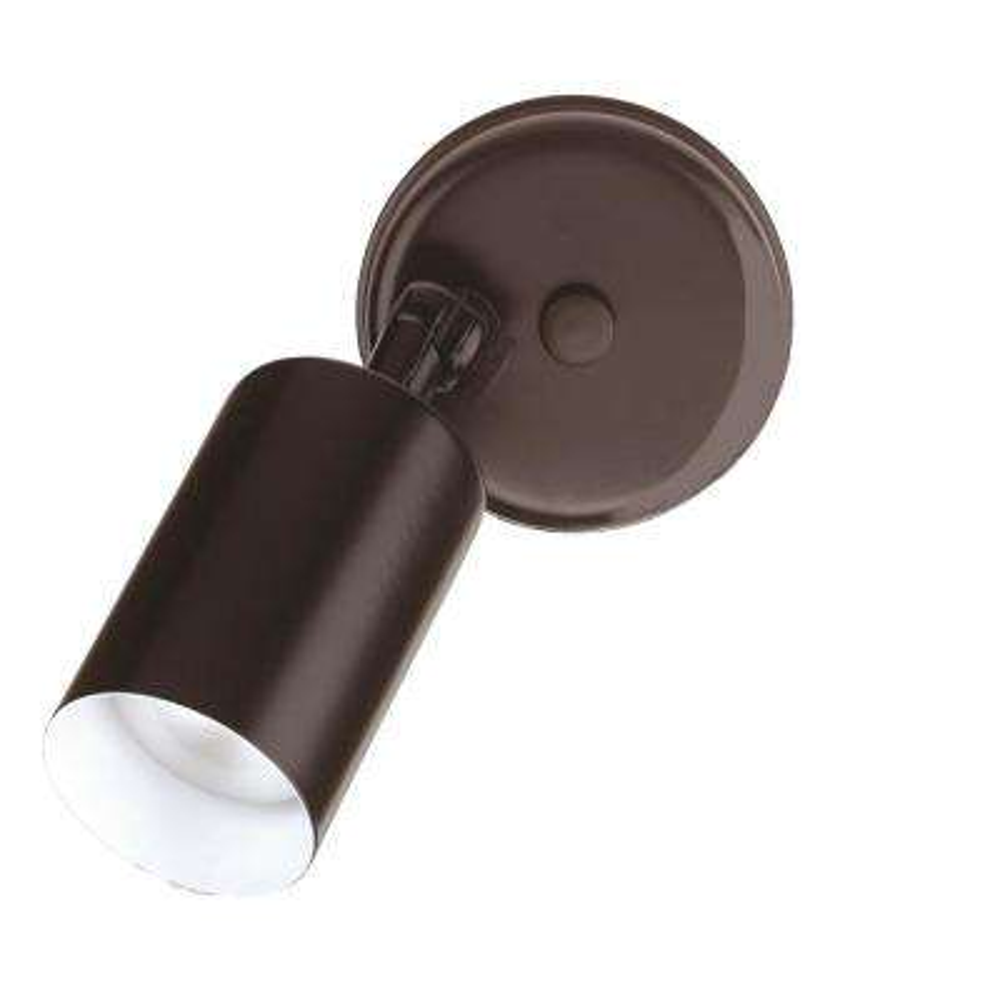 Single Bullet 50-Watt Black Outdoor Wall Mount Cylinder Light