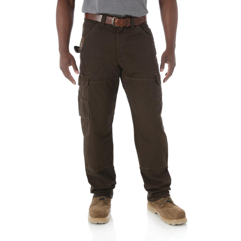 Men's Size 32 in. x 34 in. Dark Brown Ranger Pant