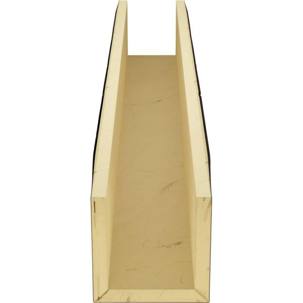 Ekena Millwork 12 In X 10 In X 22 Ft 3 Sided U Beam Knotty Pine Premium Mahogany Faux Wood Ceiling Beam Bmkp3c0100x120x264zm The Home Depot