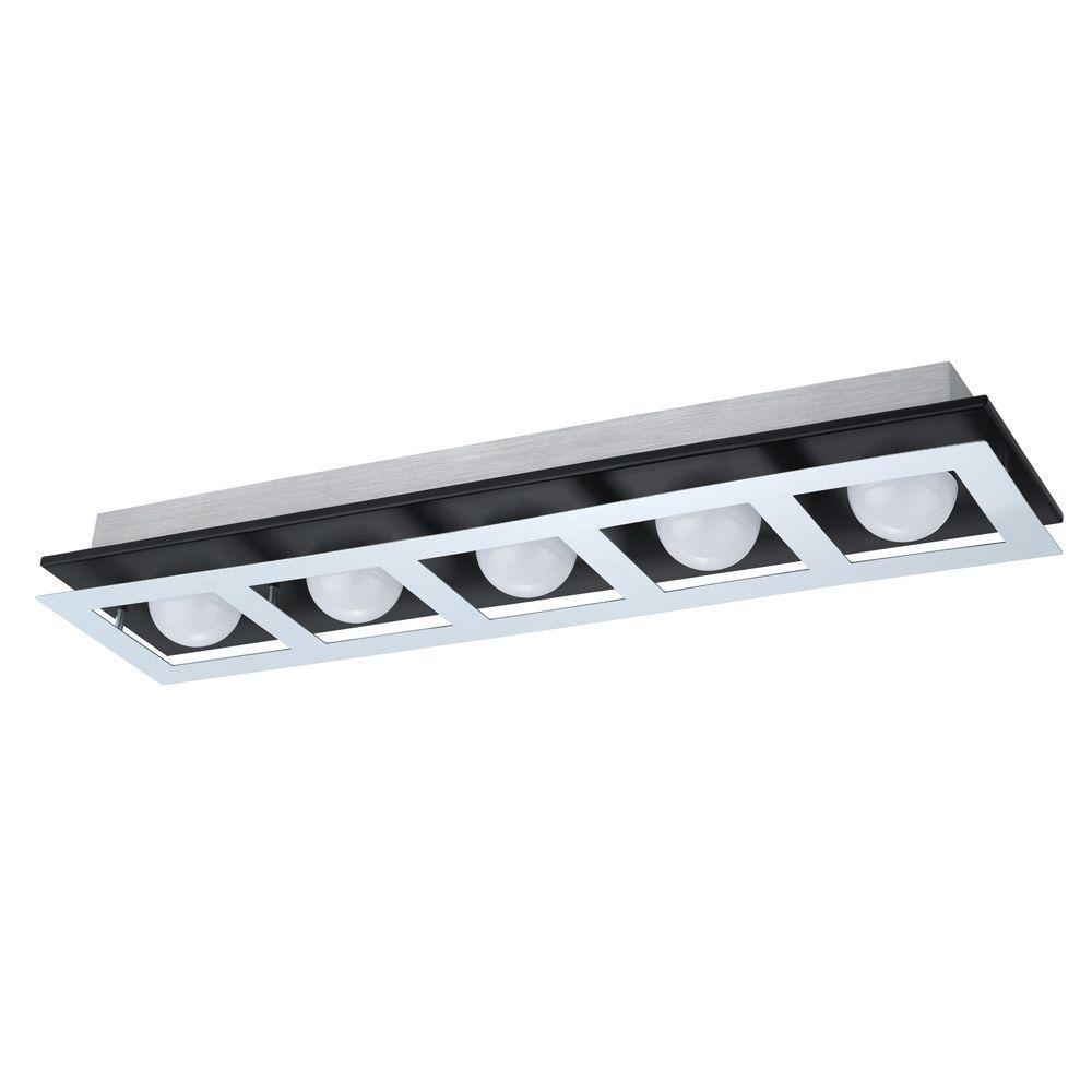 Bellamonte 2 ft. Brushed Aluminum and Black Track Lighting