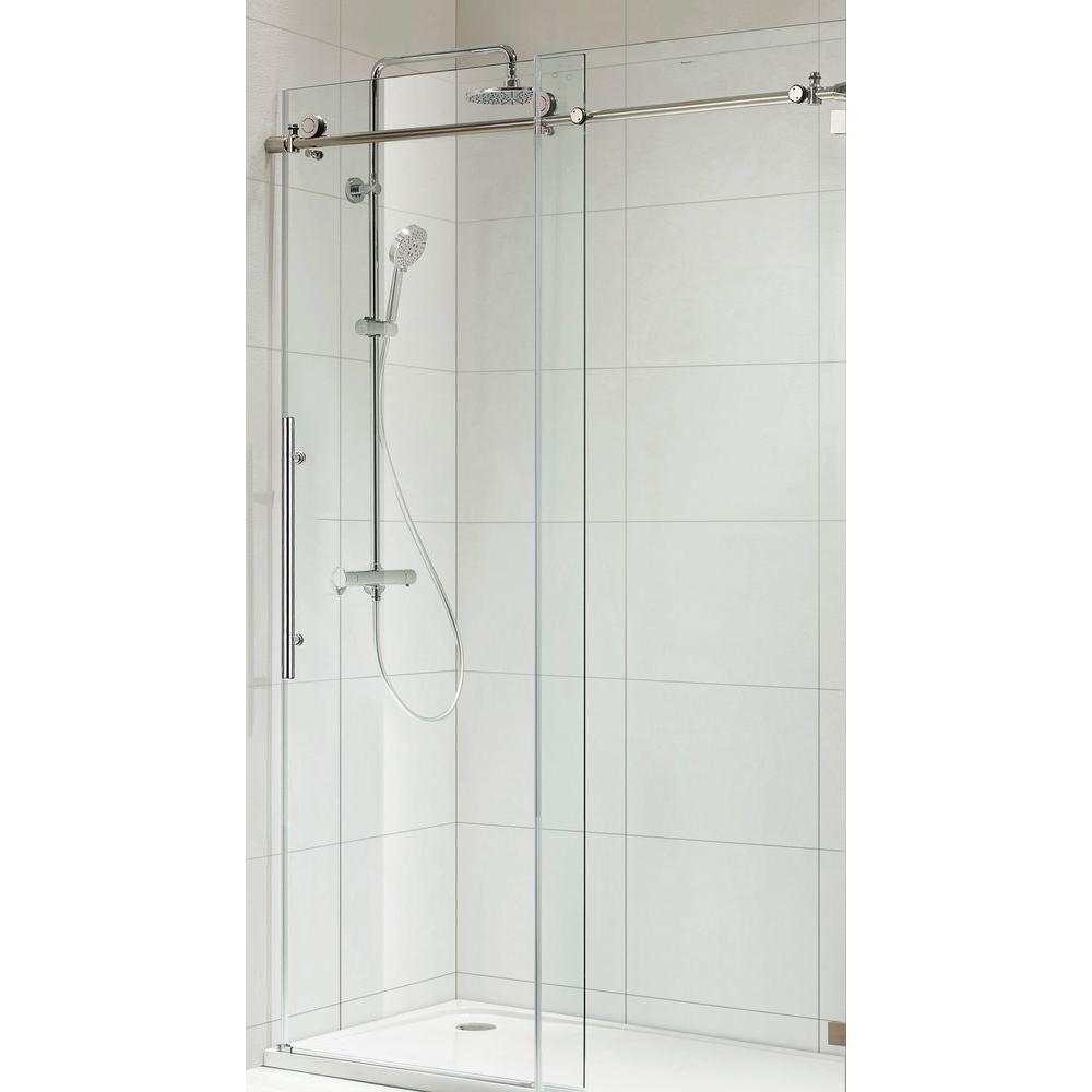 Wet Republic Trident Lux Premium 60 in. x 76 in. Frameless Sliding Shower Door