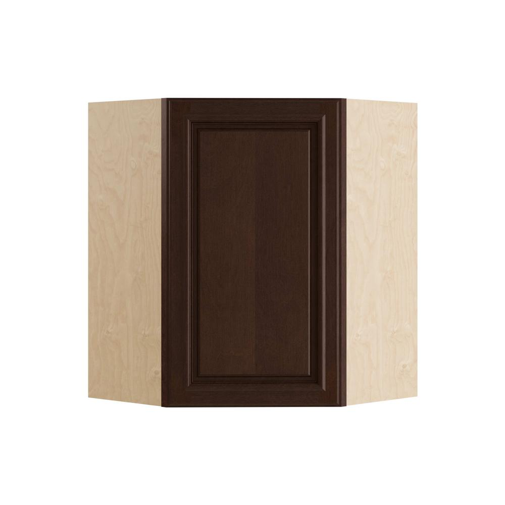 Home Decorators Collection 24x30x12 in. Somerset Assembled Wall Angle Cabinet with 1 Door Left Hand in Manganite