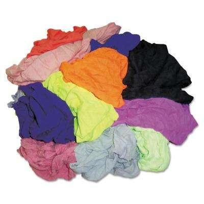 New Colored Knit Polo T-Shirt Rags, Assorted Colors, 10 Pounds/Bag