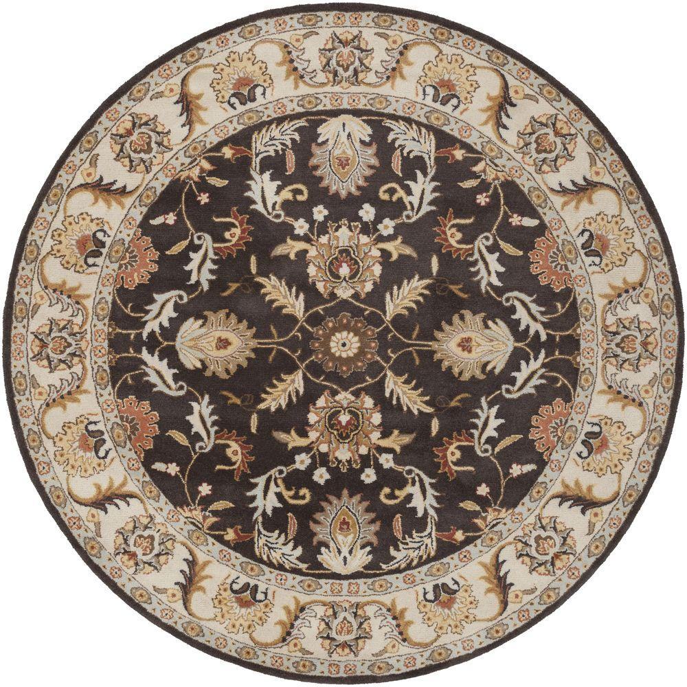 artistic weavers chenni mocha 9 ft 9 in x 9 ft 9 in round indoor area rug s00151007405 the. Black Bedroom Furniture Sets. Home Design Ideas