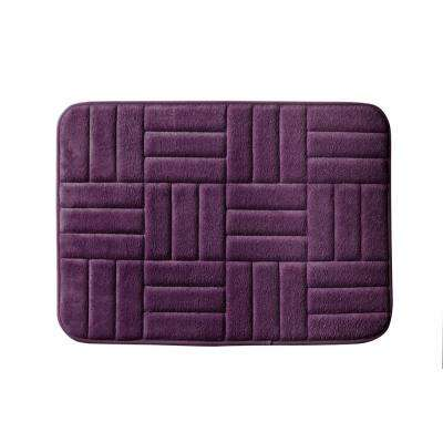 Parqeut 17 in. x 24 in. Bath Rug in Plum