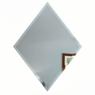 Reflections Graphite Blue Beveled Diamond 6 in. x 8 in. Glossy Glass Mirror Wall Tile (6 Pieces/Pack)