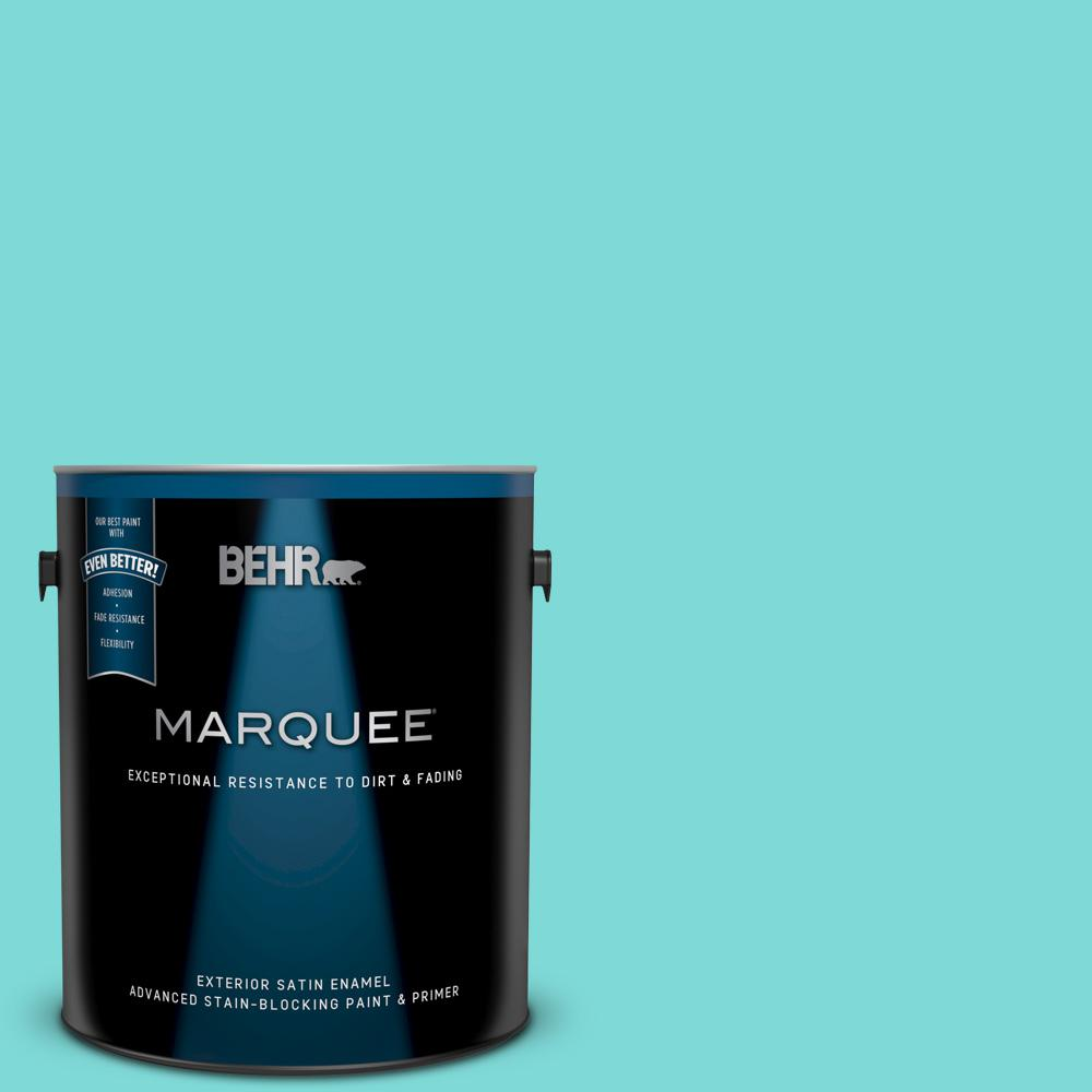BEHR MARQUEE 1 gal  #MQ4-22 Key Largo Satin Enamel Exterior Paint and  Primer in One