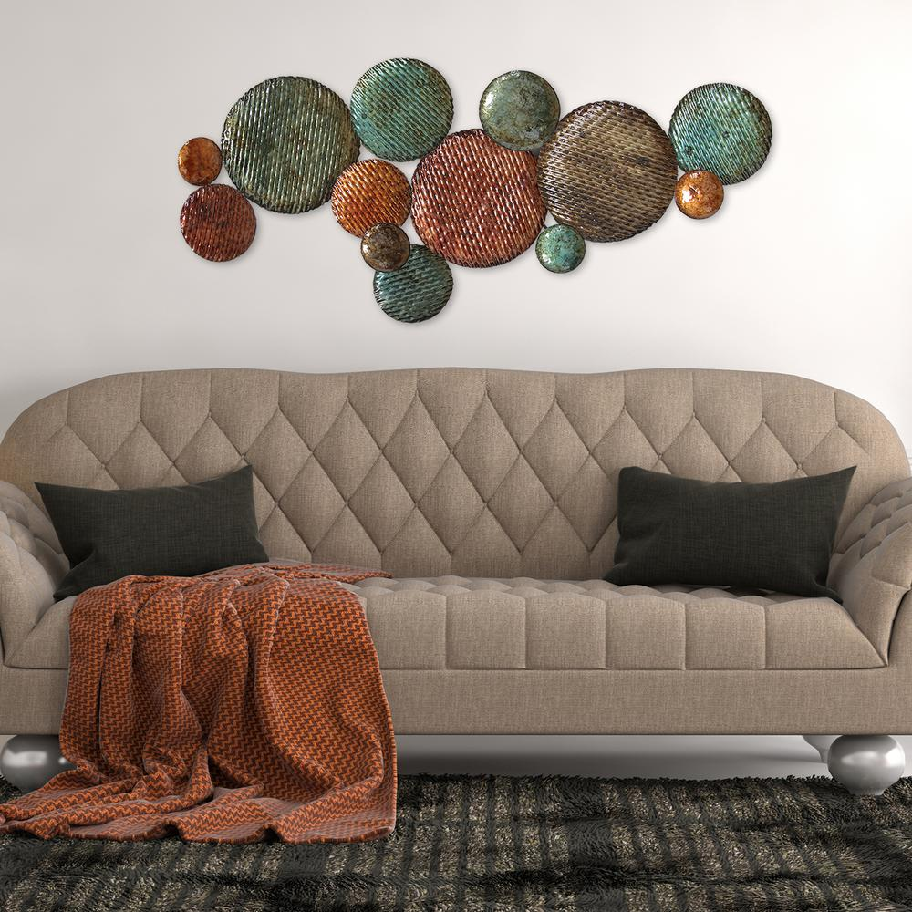 Stratton Home Decor Textured Plates Metal Wall Art ~ Stratton home decor woven metal cluster wall s