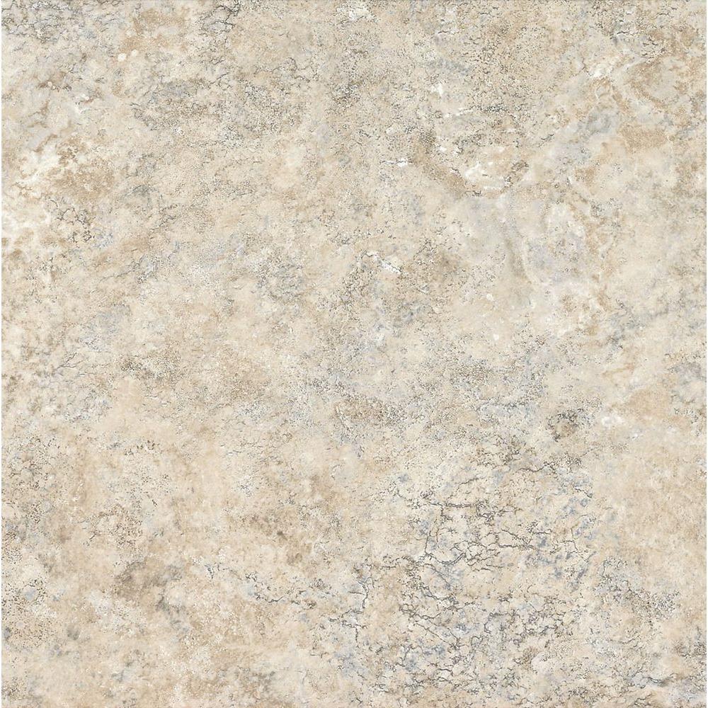 Armstrong CeraRoma 16 in. x 16 in. Limestone White Vinyl Tile (24.89 sq. ft. / case)