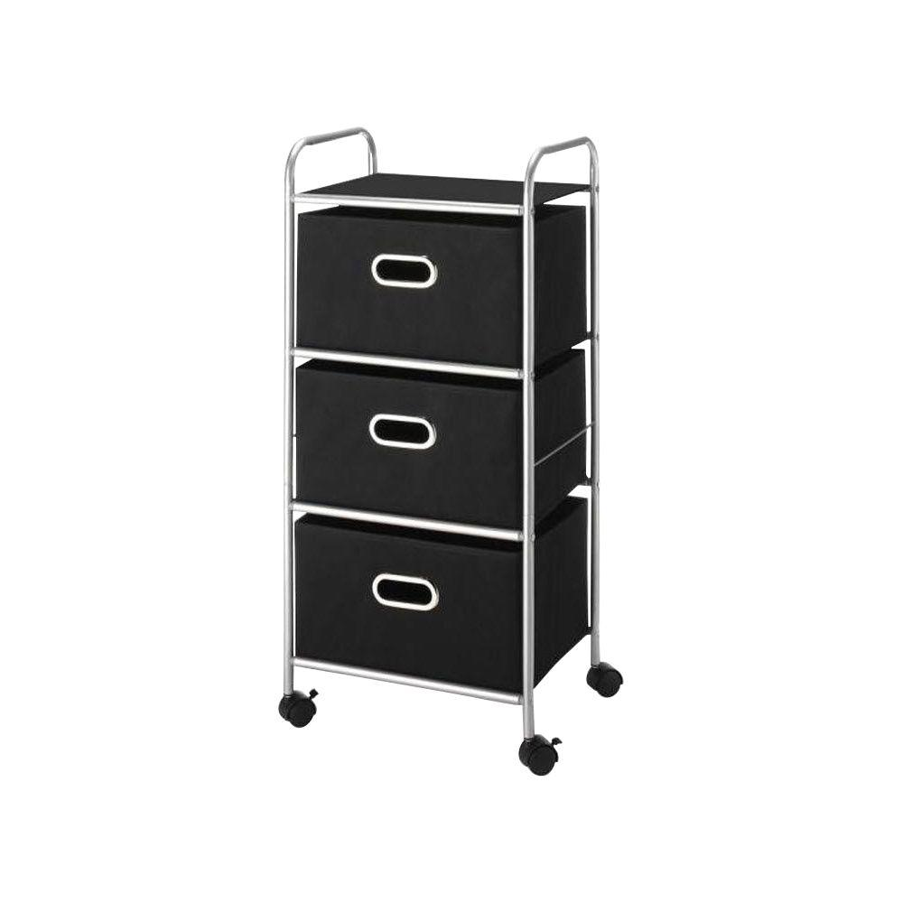 Home Decorators Collection 13 in. W 3-Drawer Metal Frame Cart