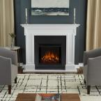 Thayer 54 in. Electric Fireplace in White