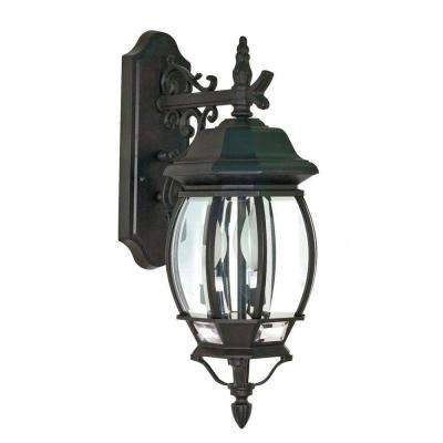 Concord 3-Light Black Textured Outdoor Wall Lantern