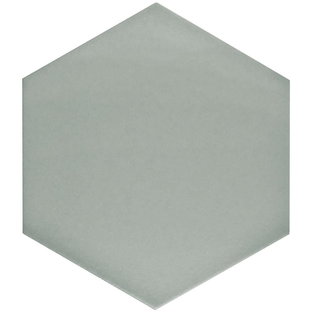 Merola Tile Textile Hex Silver 8-5/8 in. x 9-7/8 in. Porcelain Floor and Wall Tile (11.19 sq. ft. / case), Silver/Low Sheen