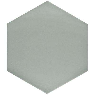 Textile Hex Silver 8-5/8 in. x 9-7/8 in. Porcelain Floor and Wall Tile (11.19 sq. ft. / case)