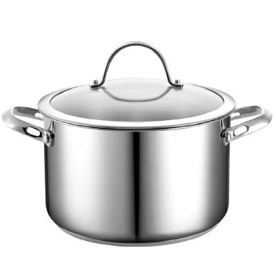 Classic 6 qt. Stainless Steel Stock Pot with Glass Lid