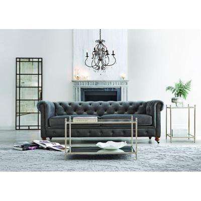 Gordon Grey Velvet Sofa
