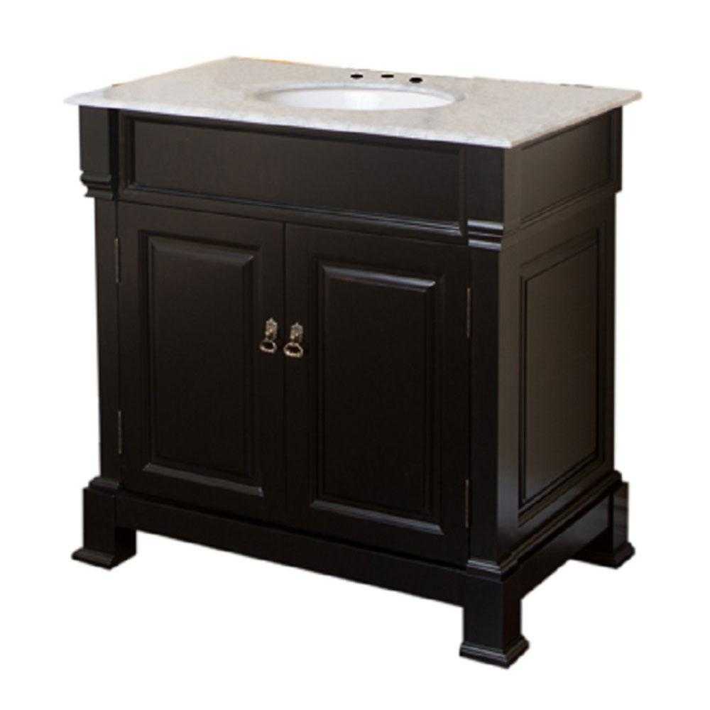 Bellaterra Home Belvedere 36 in. W x 22.5 in. D Single Vanity in ...