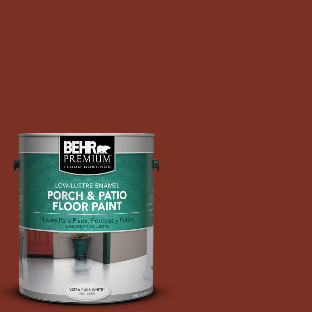 1 gal. #SC-330 Redwood Low-Lustre Interior/Exterior Porch and Patio Floor Paint