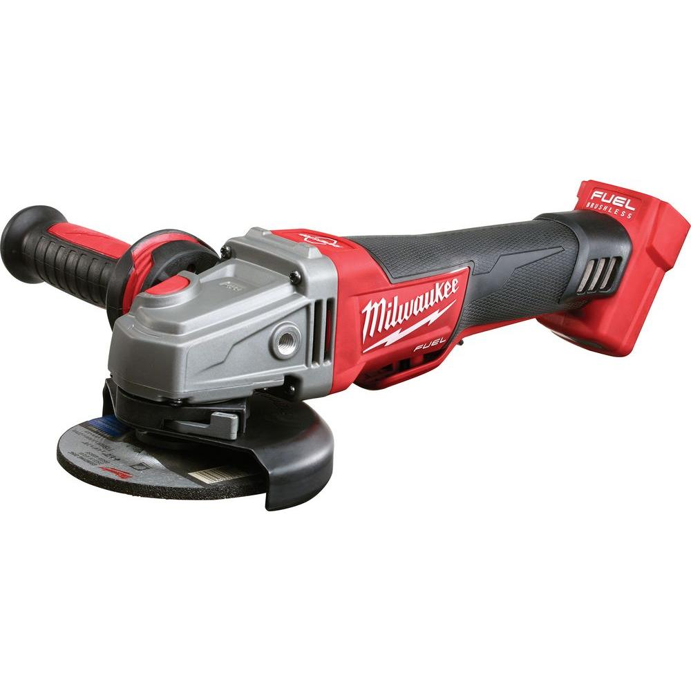 cordless grinder. milwaukee m18 fuel 18-volt lithium-ion cordless brushless 4 1/2 in grinder