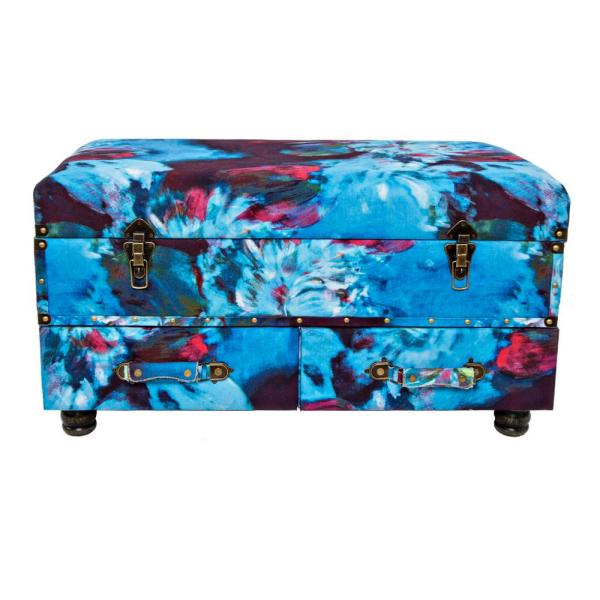 River of Goods Abstract Multi-Color Storage Trunk 16397