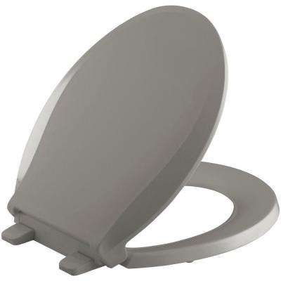 Grip-Tight Cachet Q3 Round Front Closed-front Toilet Seat in Cashmere