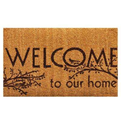 Welcome 17 in. x 29 in. Coir Door Mat
