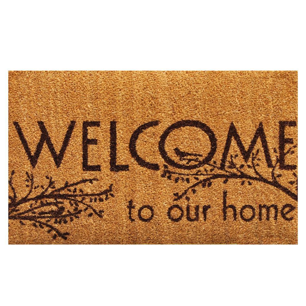 Home Amp More Welcome 17 In X 29 In Coir Door Mat