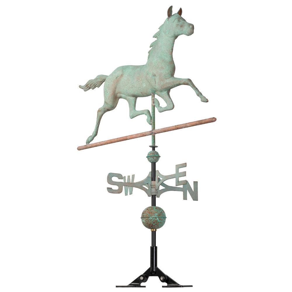 48 in. Verdigris Horse Copper Weathervane