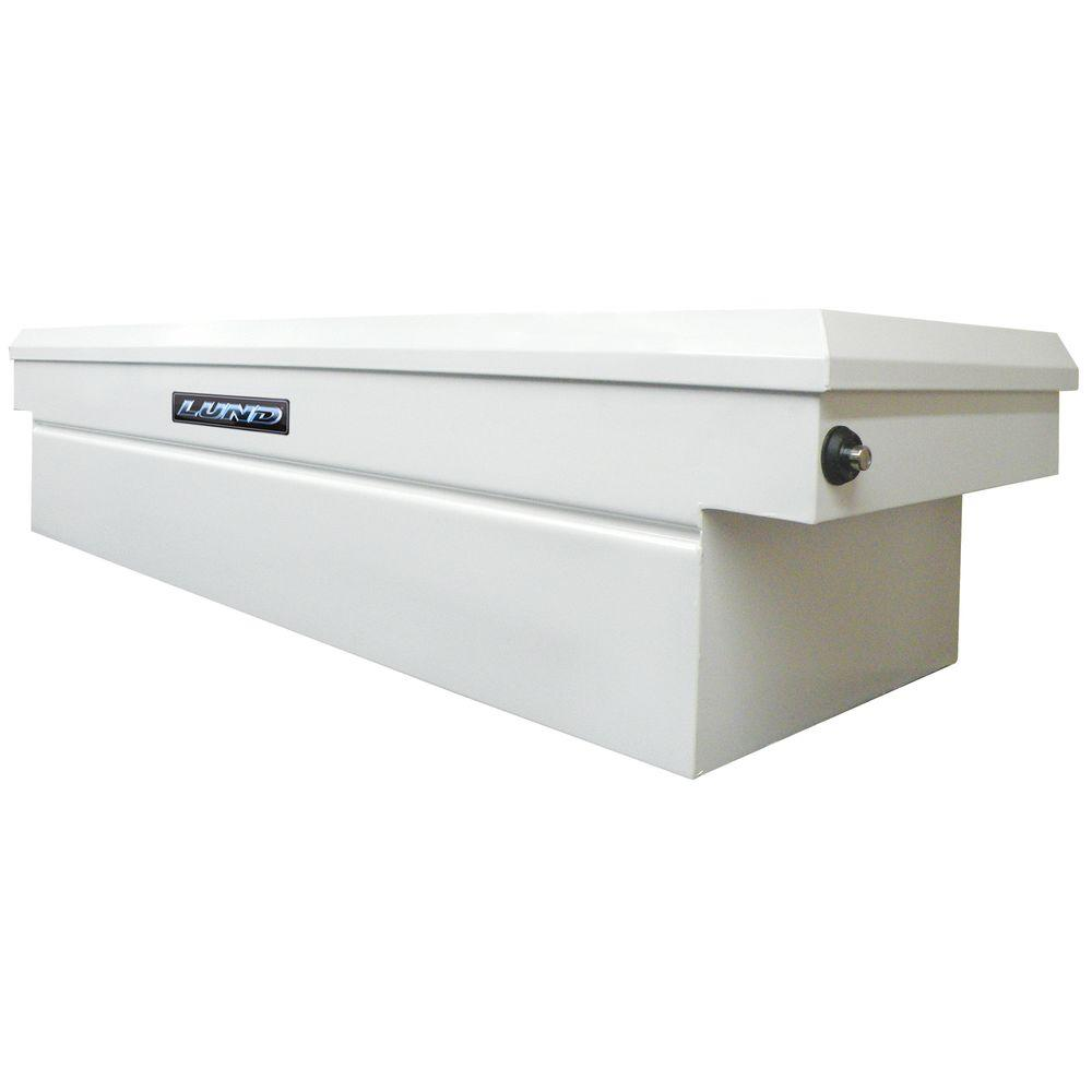 Lund 60.75 in White Steel Full Size Crossbed Truck Tool Box