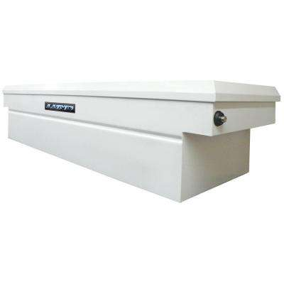 60.75 in White Steel Full Size Crossbed Truck Tool Box