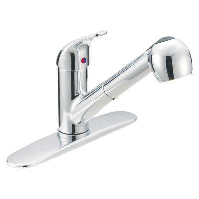 Prestige Collection 1-Handle Pull-Out Contemporary Flair Sprayer Kitchen Faucet in Chrome