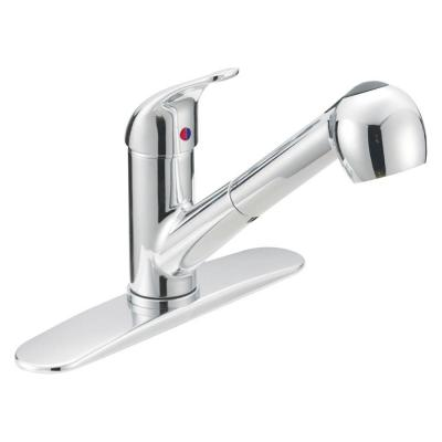 Prestige Collection Contemporary Flair Single-Handle Pull-Out Sprayer Kitchen Faucet in Chrome