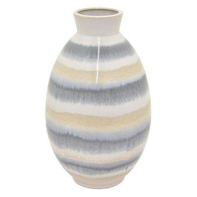 15.75 in. Multi-Colored Ceramic Vase