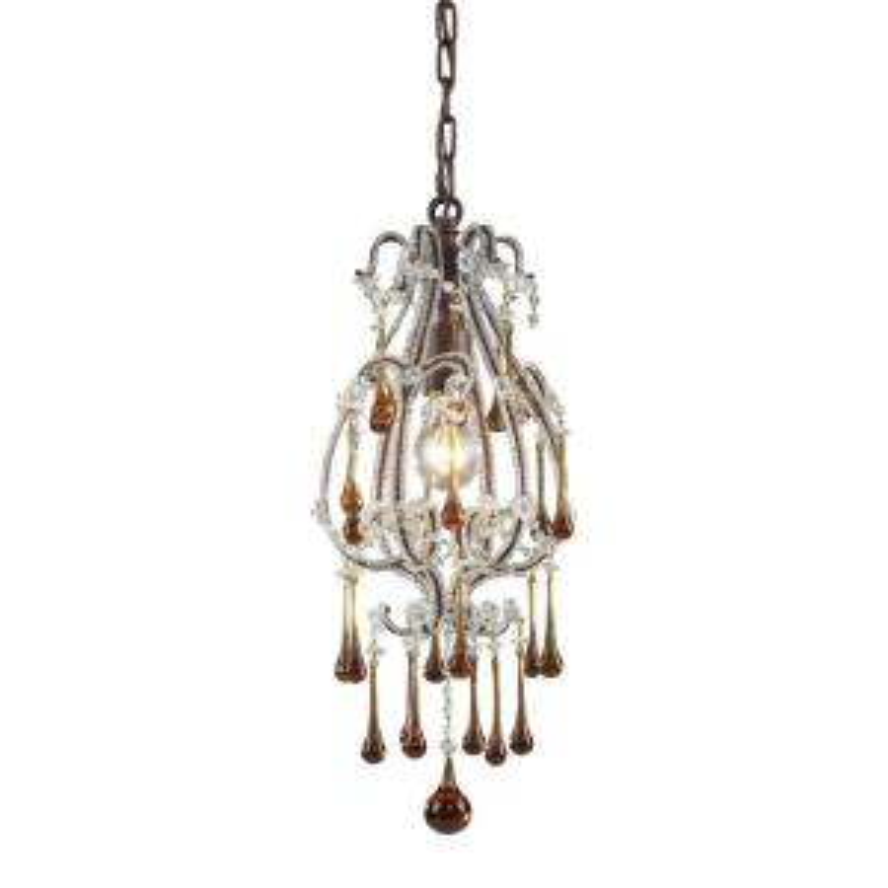 opulence 1light deep rust ceiling pendant