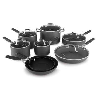 Select 14-Piece Hard-Anodized Non-Stick Cookware Set